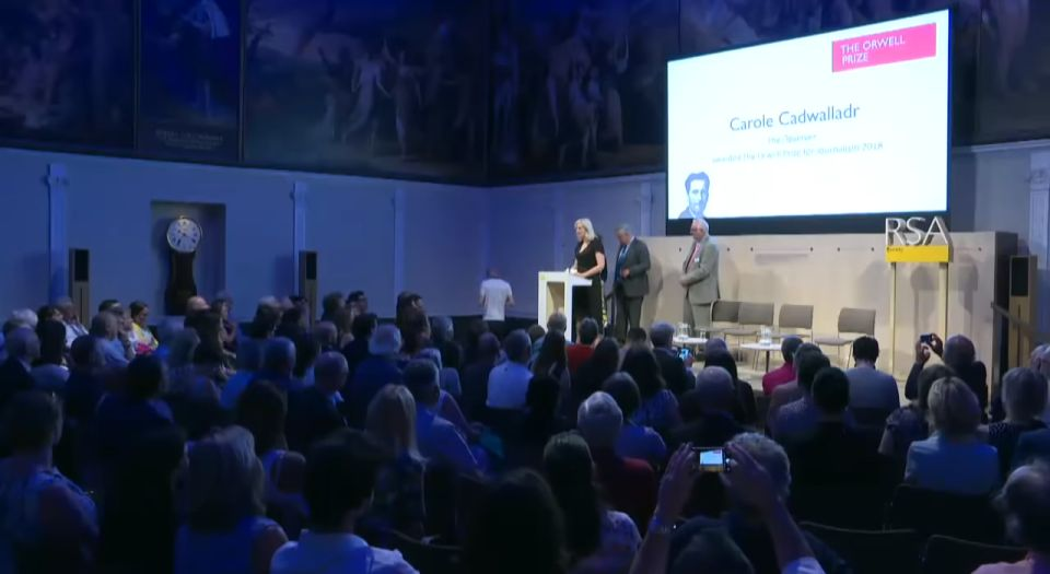 Is the Orwell Prize rewarding conspiracy theories now?