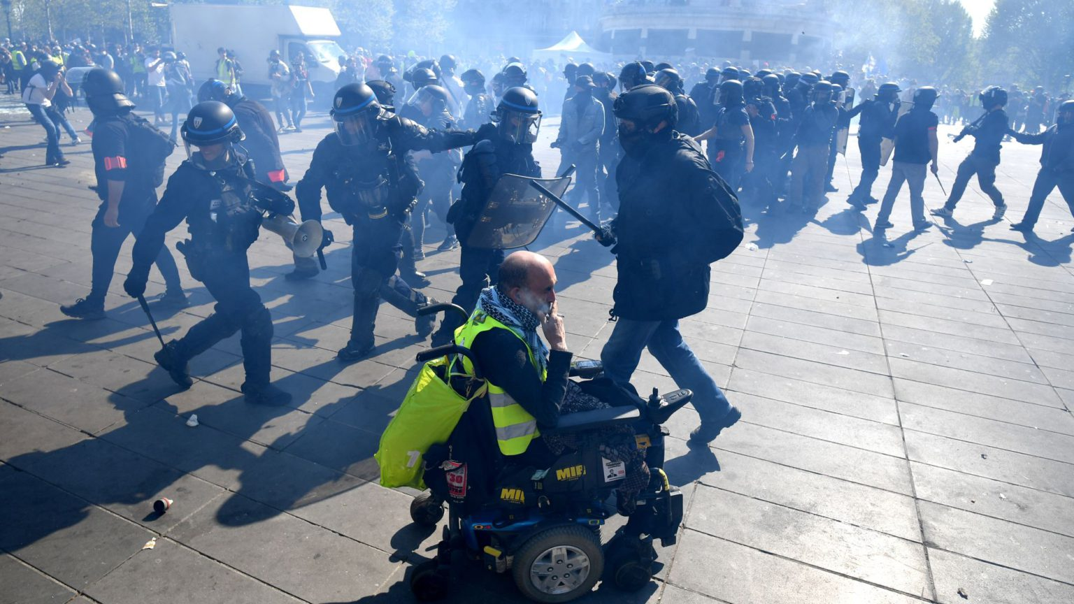 Now the French police are attacking disabled people