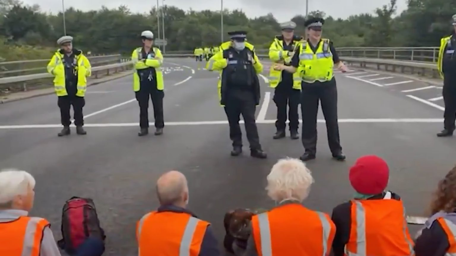 Why are the cops so soft on eco-protesters?